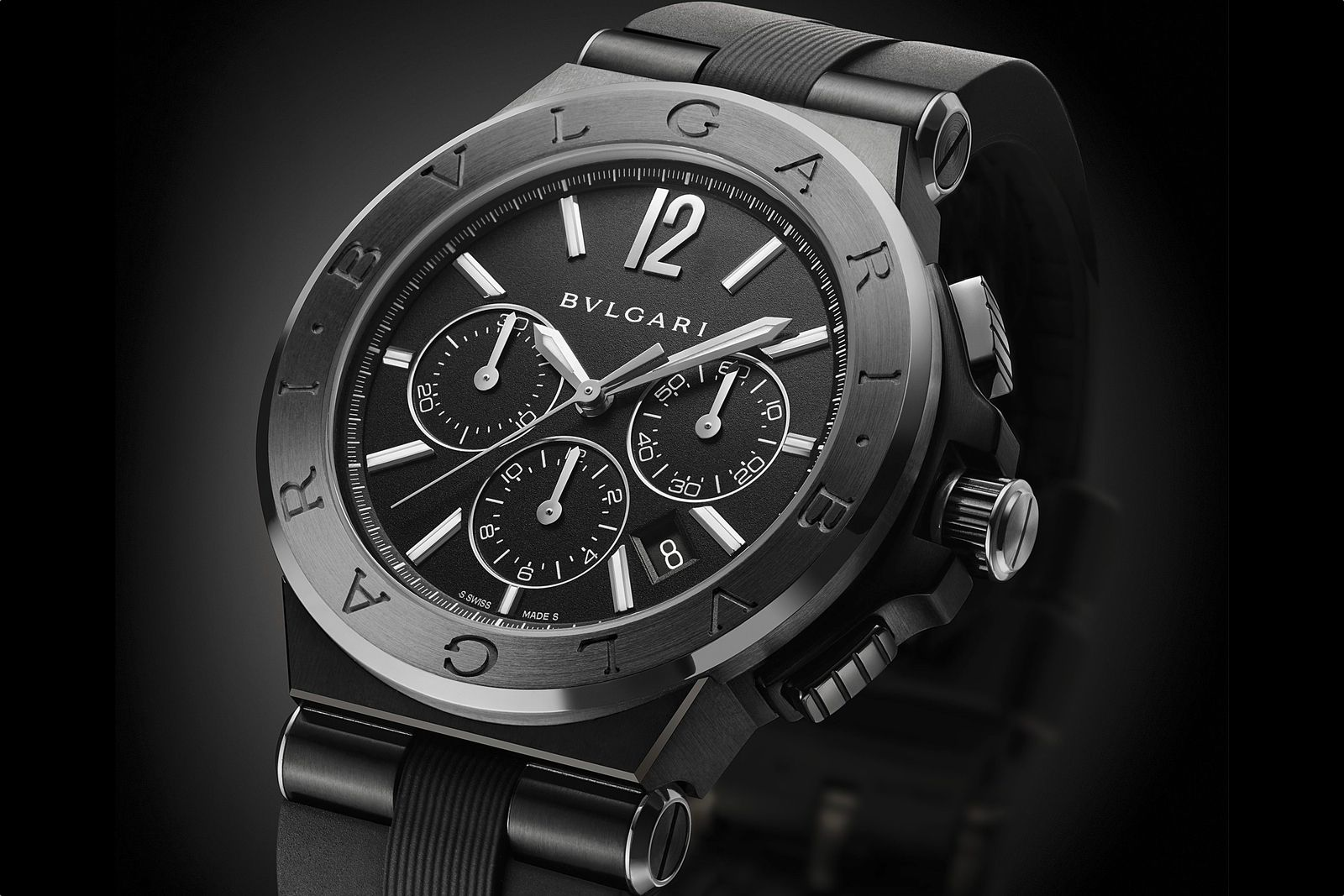 Introducing The Bulgari Diagono Ultranero Chronograph Bvlgari Watches Bulgari Watch Beautiful Watches