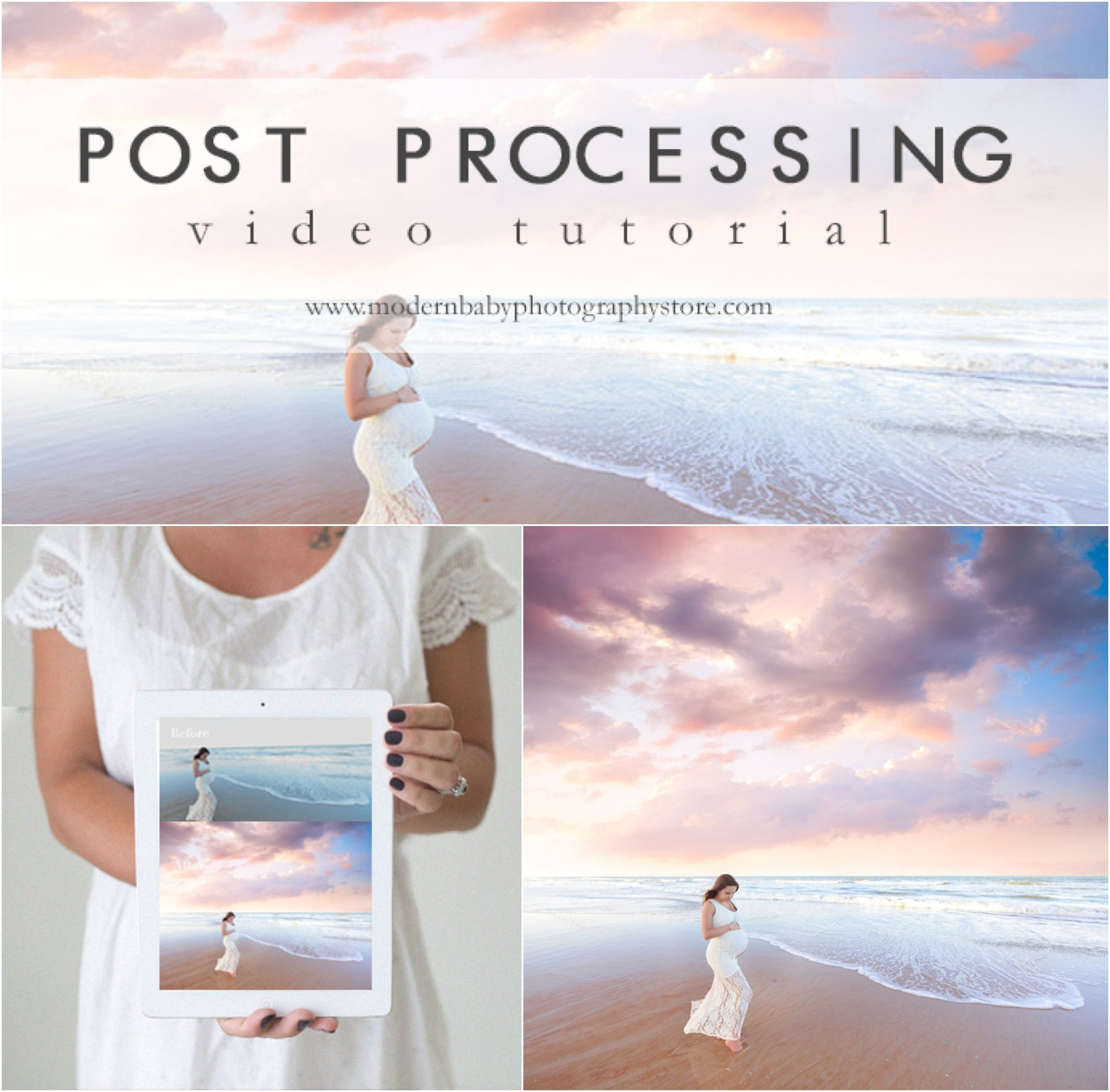 Beach portrait post processing photography video tutorial image awesome post processing video showing how to edit super dreamy beach images covers everything from start to finish using photoshop more video tutorials at baditri Gallery