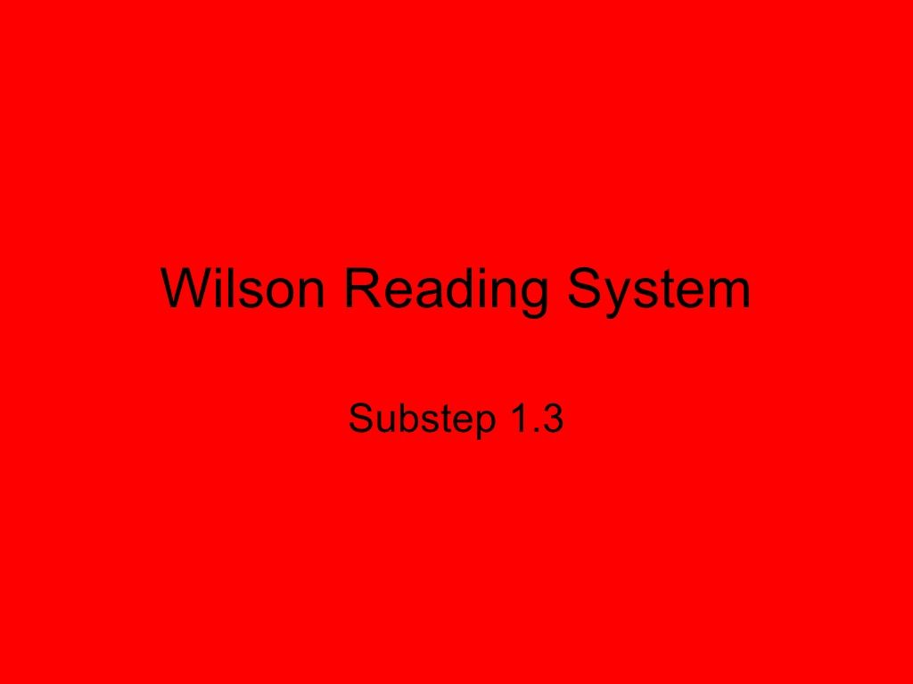 Wilson 1 3 By Kellysmith Via Slideshare With Images