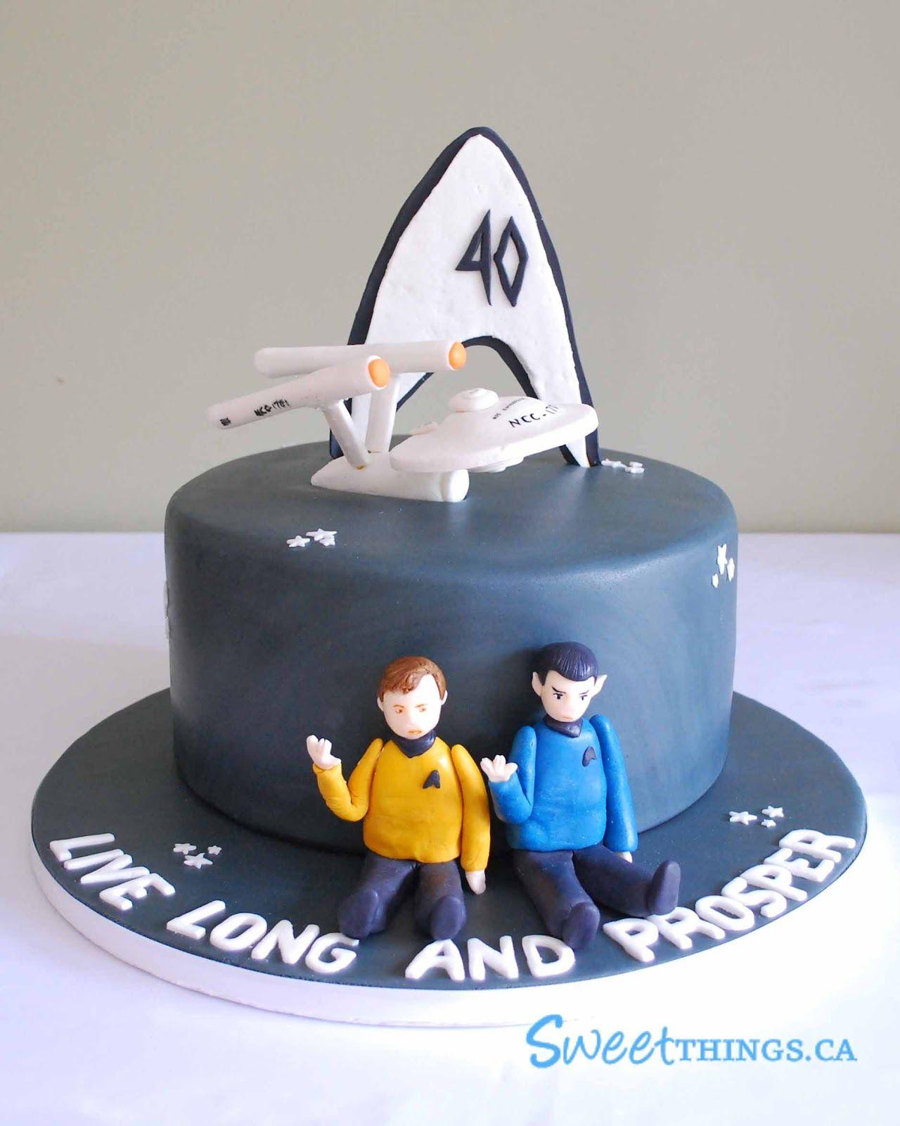Quiero esta torta para mi cumple!!! Eso es regalo suficiente!!! Star Trek birthday cake