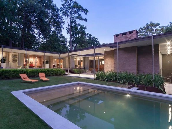 Mid Century Modern Houston Real Estate Tx Homes For