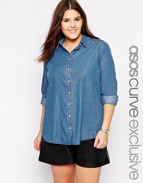 Camisa Denim Plus Size · Outfit | Moda para gorditas, Ropa
