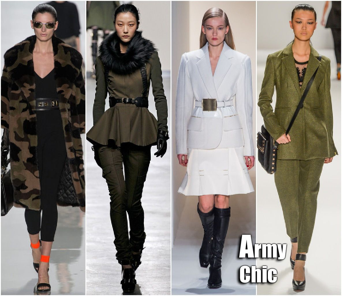 Fashion fall trend military