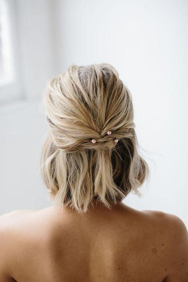50 coiffures de mariage pour cheveux courts