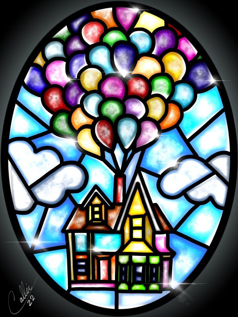 Stained Glass Up by CallieClara on DeviantArt
