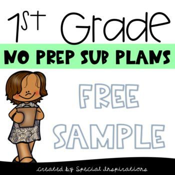 Emergency Sub Plans For 1st Grade (Free Sample) #emergencysubplans Emergency Sub Plans For 1st Grade (Free Sample) #subplans #free #emergencysubplans
