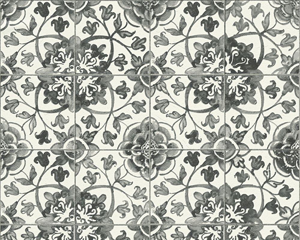 Tapete Fliesen weiß AS Creation Faro 96247-2 | Küche | Pinterest ...