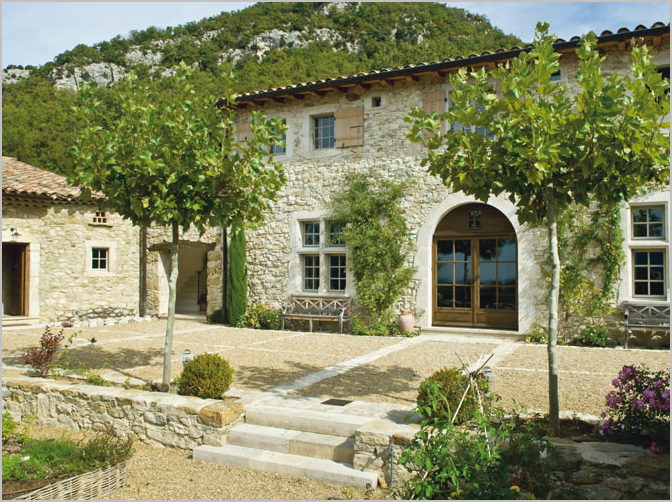 provence stone house french country