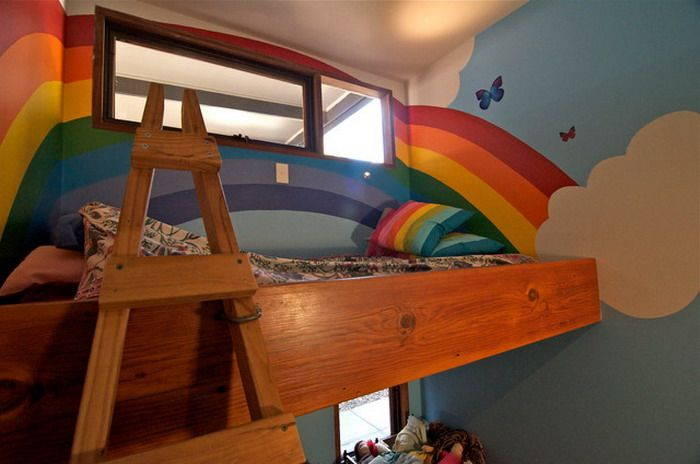 rainbow image in kids bedrooms - Google Search