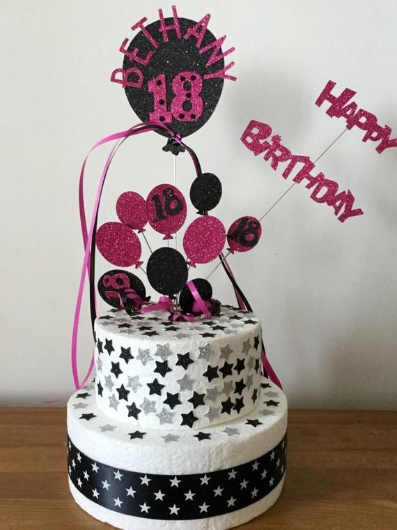 Personalised Balloon Bunch Birthday Cake Topper Party Decoration All Ages,Colours,1st,10th,13th,16th,18th,21st,30th,40th,50th,60th,70th,80th