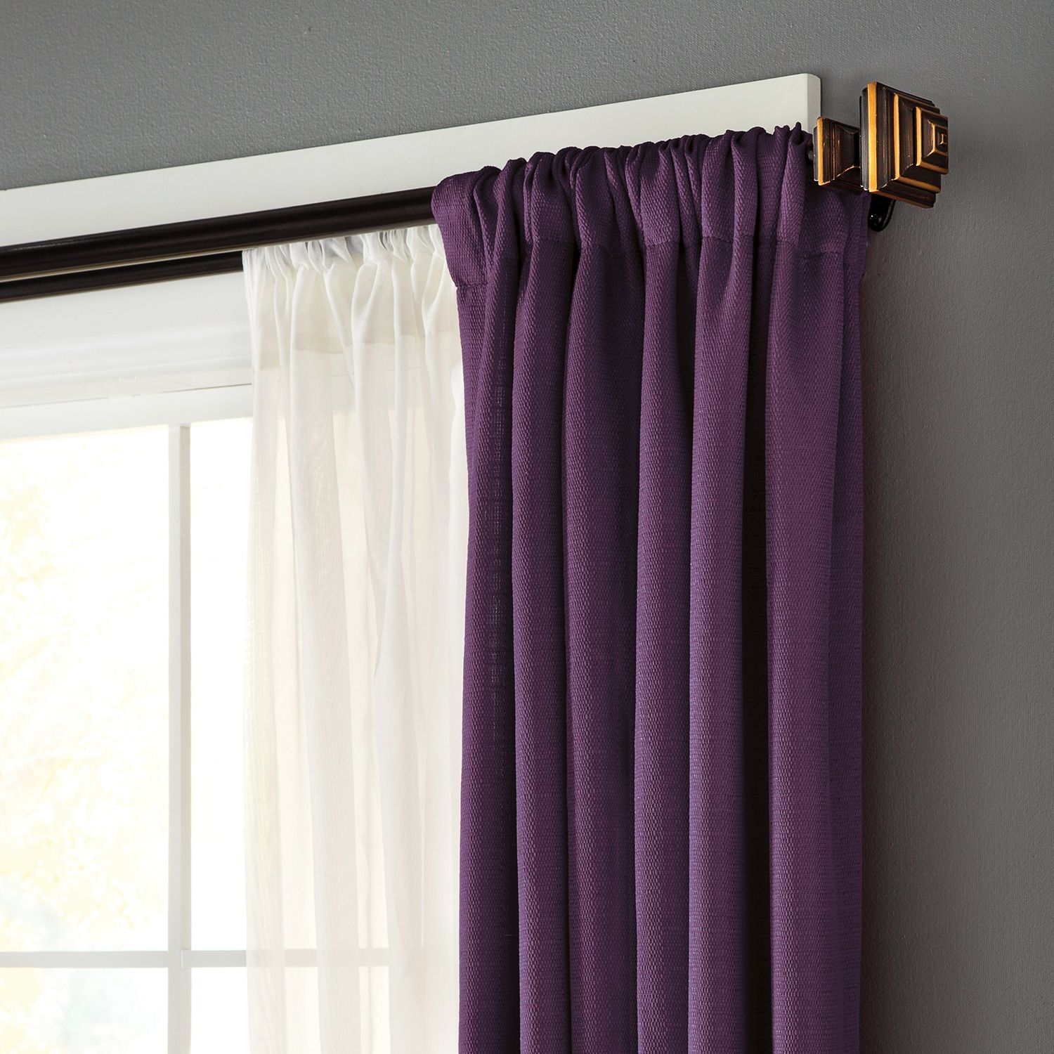 Eclipse Stacey Window Curtain Rod Stacey Eclipse Window Rod Window Curtain Rods Curtain Rods Window Curtains