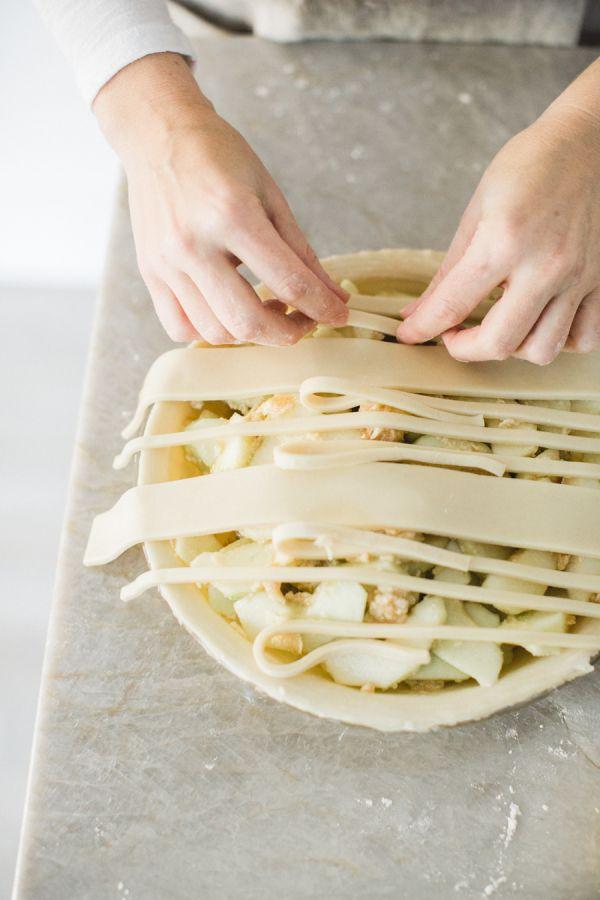 Plaid Crust Apple Pie Recipe: http://www.stylemepretty.com/living/2015/12/23/plaid-pie-crust/   Photography: http://nbarrettphotography.com/