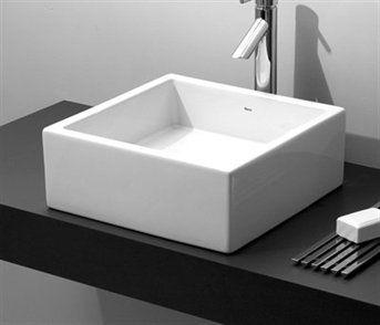 Deca UL 70 17 Square Fire Clay Basin Vessel Sink   Fixture Universe