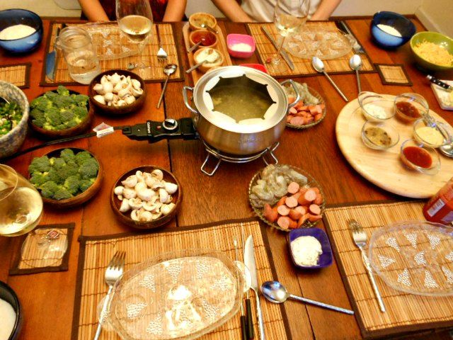 Marvelous Fondue Dinner Party Ideas Part - 3: Breakfast For Dinner Anyone? What About A Shrimp Fondue With Creamy Grits  And Tangy Barbecue
