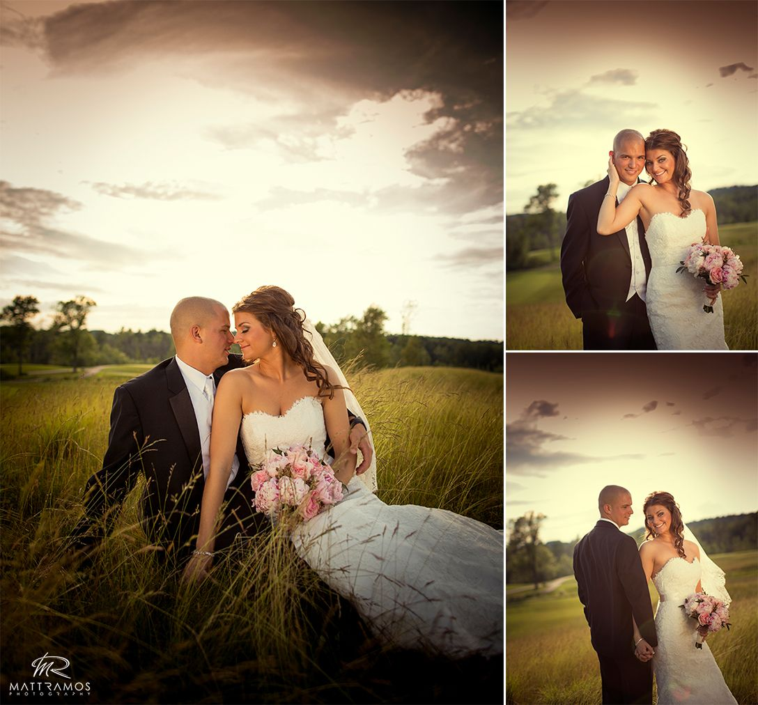 Golf Course Wedding Ideas: Bride And Groom Golf Course Wedding © Matt Ramos