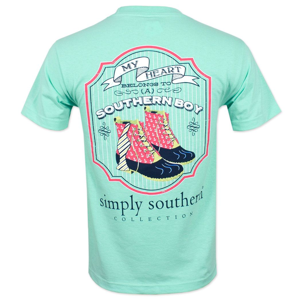 Simplysouthern My Heart Belongs To T Shirt Blue Simply