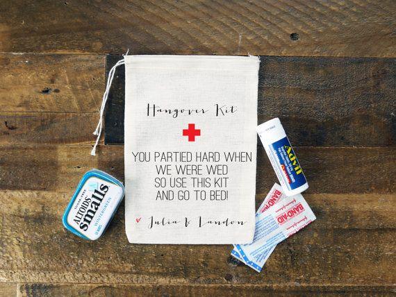 Hangover Bags Set Of 10 Personalized Wedding Poem Custom Cloth