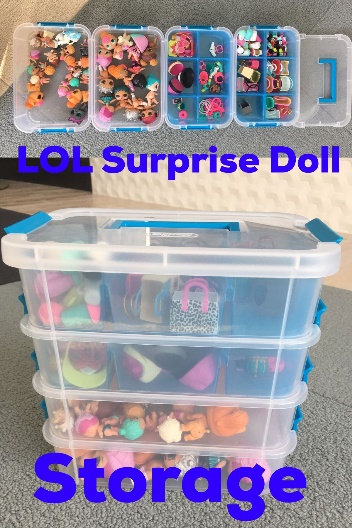 Lol Surprise Doll Storage Sterilite Box From Target Doll