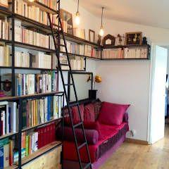 Photos de salon de style de style industriel : bibliothèque ...