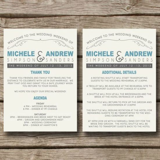 wedding weekend itinerary wedding idea pinterest