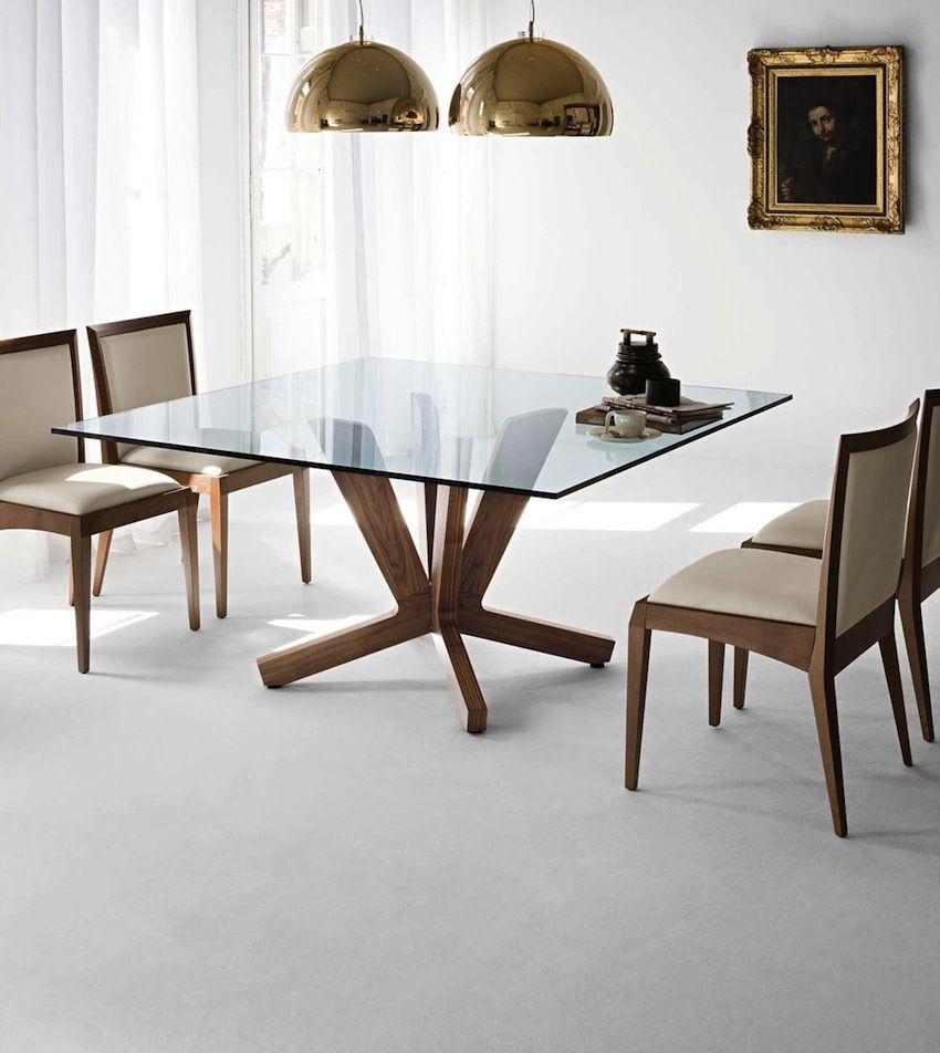 10 Shimmering Square Glass Dining Tables That Will Impress You Square Dining Room Table Dining Room Small Glass Dining Room Table