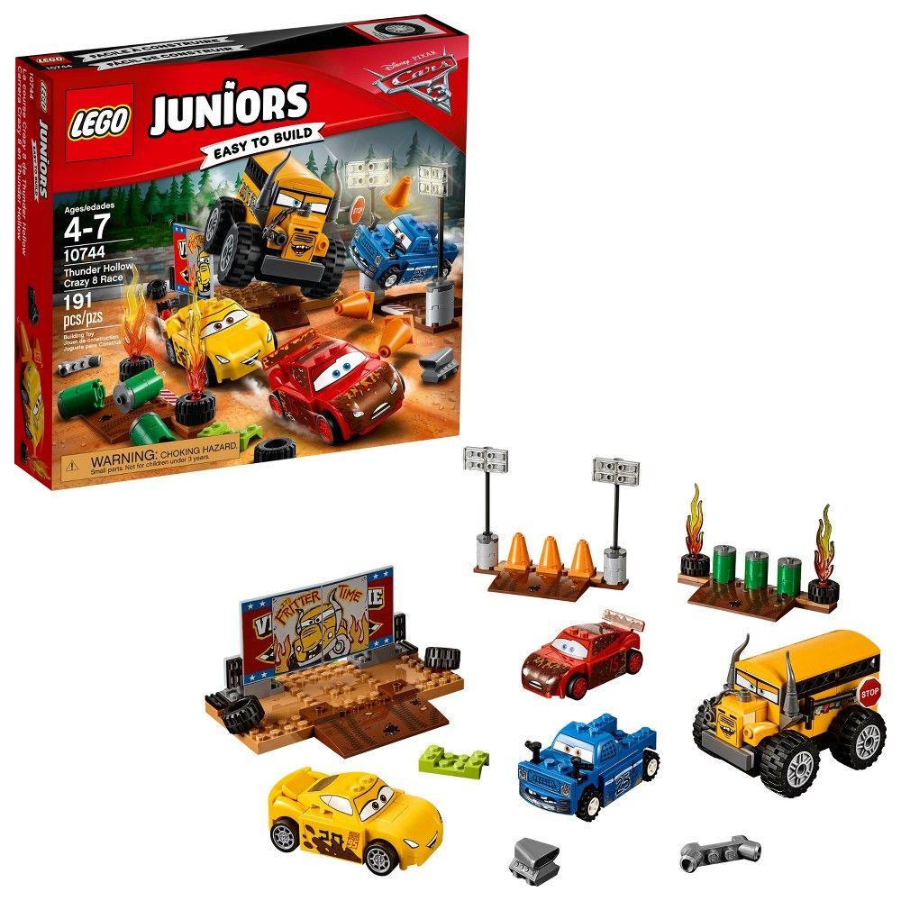 Lego Juniors Disneypixar Cars 3 Thunder Hollow Crazy 8 Race 10744 Lego Juniors Lego Lego Junior Sets