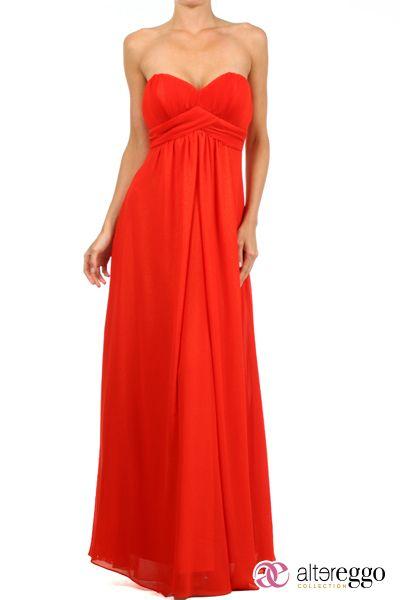 #Vestido #graduaciones #verano #2014 #naranja #orange #party #fiesta #noche #largo #maxidress #dress #nigth #strapple #chiffon #brillos #dorados