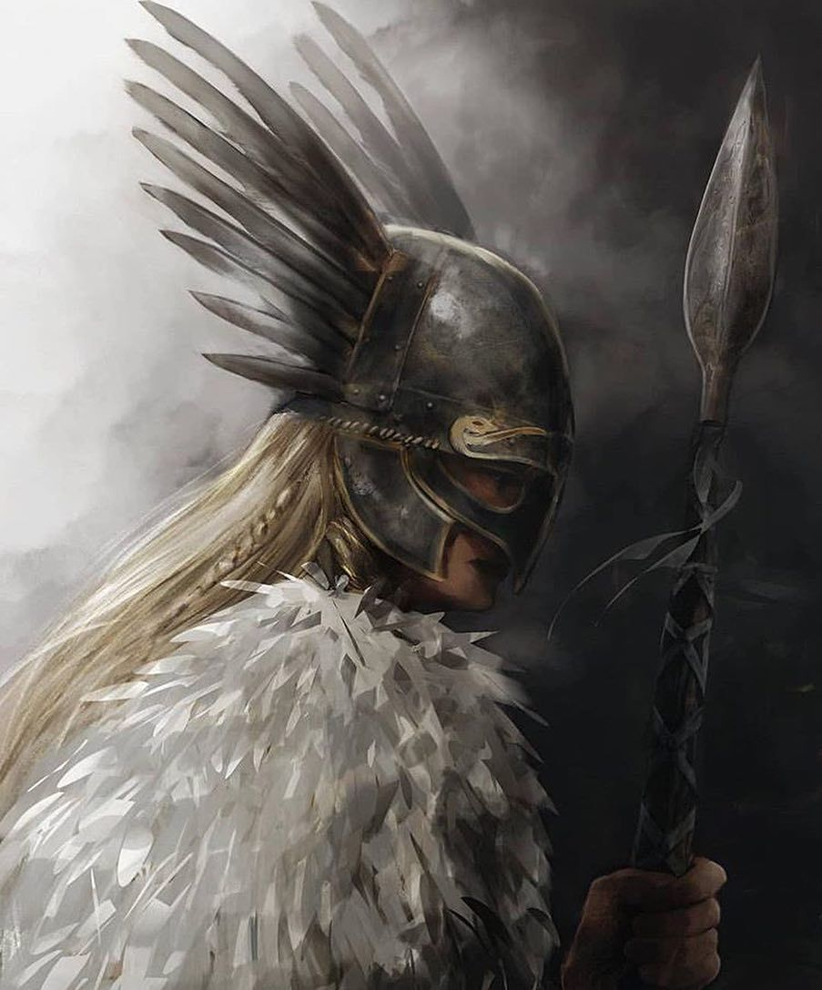 "Norse Mythology |↟ on Instagram: ""Valkyrie (Old Norse Valkyrja), in Norse mythology, any of a group of maidens who served the god Odin and were sent by him to the…"" #norsemythology"