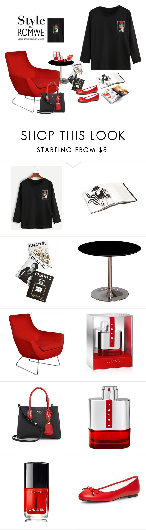 """""""the new styl"""" by nurinur ❤ liked on Polyvore featuring Assouline Publishing, Prada and Chanel"""