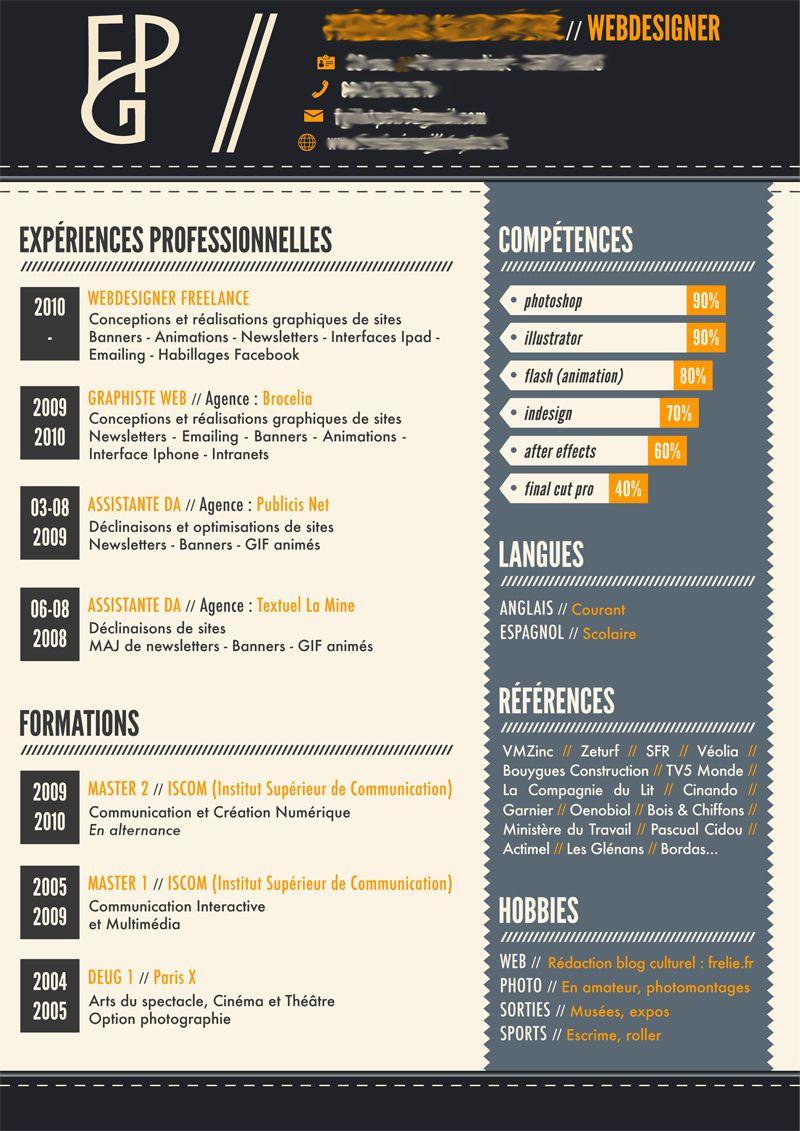 cv infographie gratuit