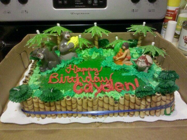 Jungle Book Cake With Images Jungle Book Cake Jungle Book