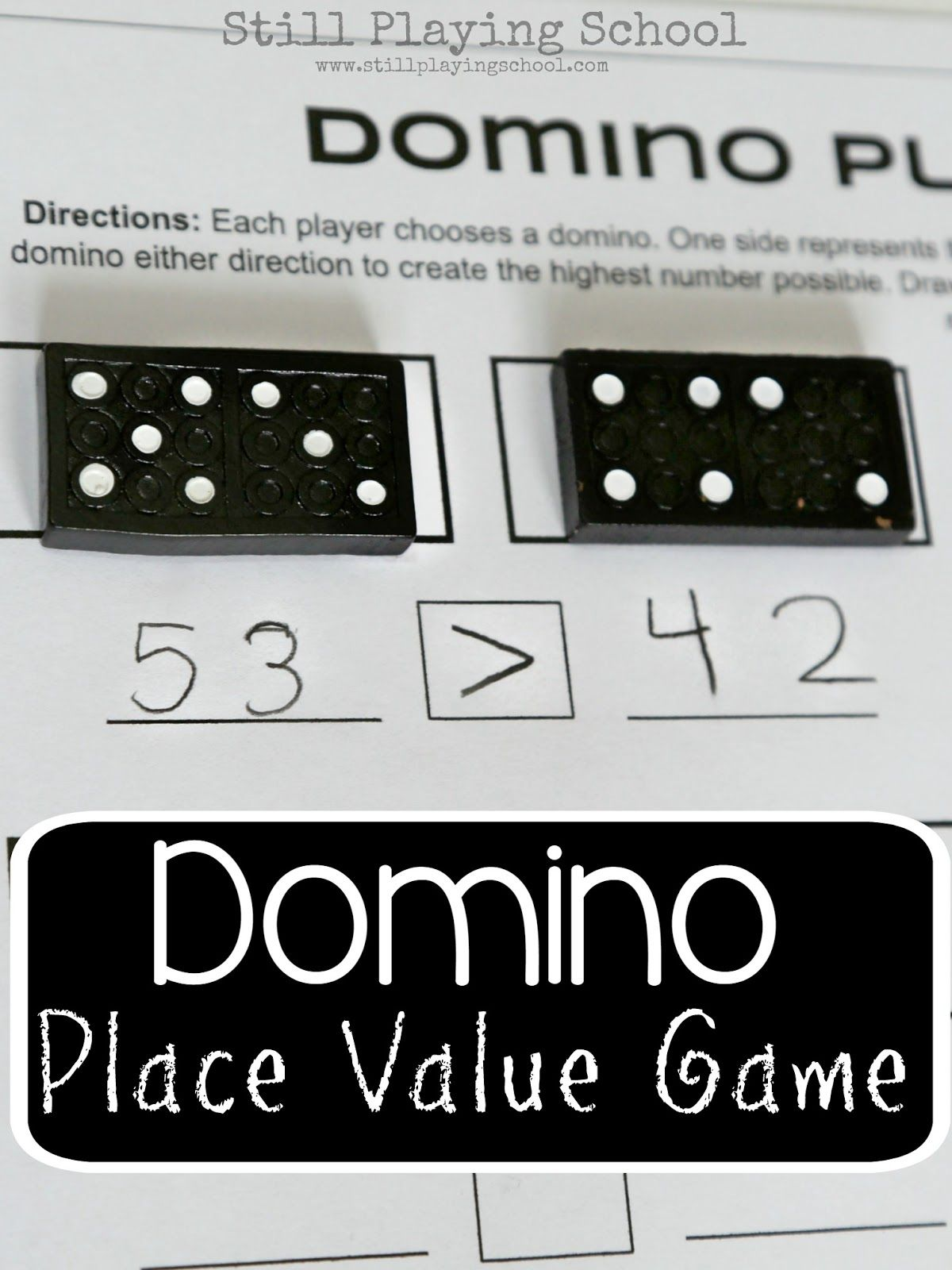 Dominoes Place Value Game for Kids | Math, Gaming and School