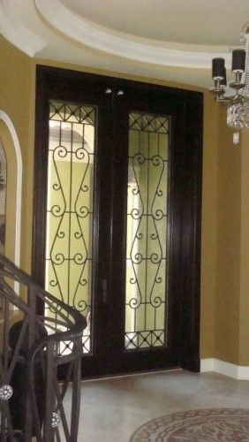 The Look Of A 10 Foot Front Door Mediterranean Front Doors Wrought Iron Doors Double Entry Doors