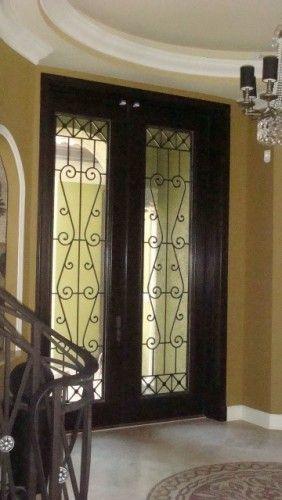 The Look Of A 10 Foot Front Door Mediterranean Front Doors Wrought Iron Doors Double Entry Doors