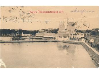Norges Jubilaemsutstilling 1914 - Postgått 1914