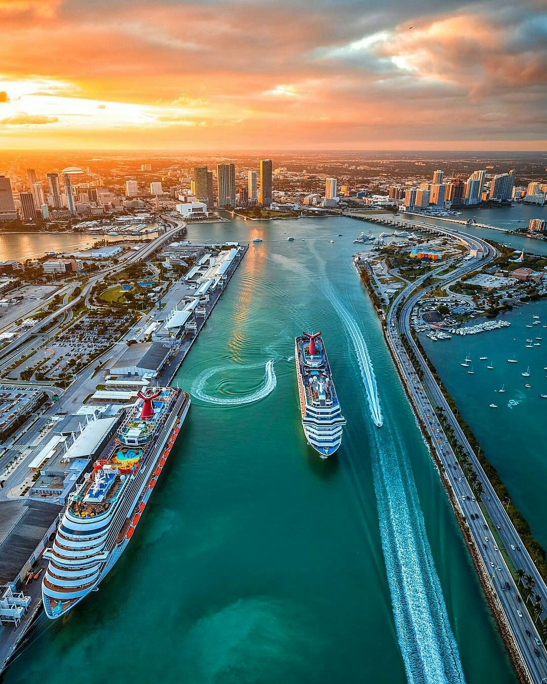 Miami Port Port Of Miami By Calder In 2019 Sunsets Sunrise Miami Sunset