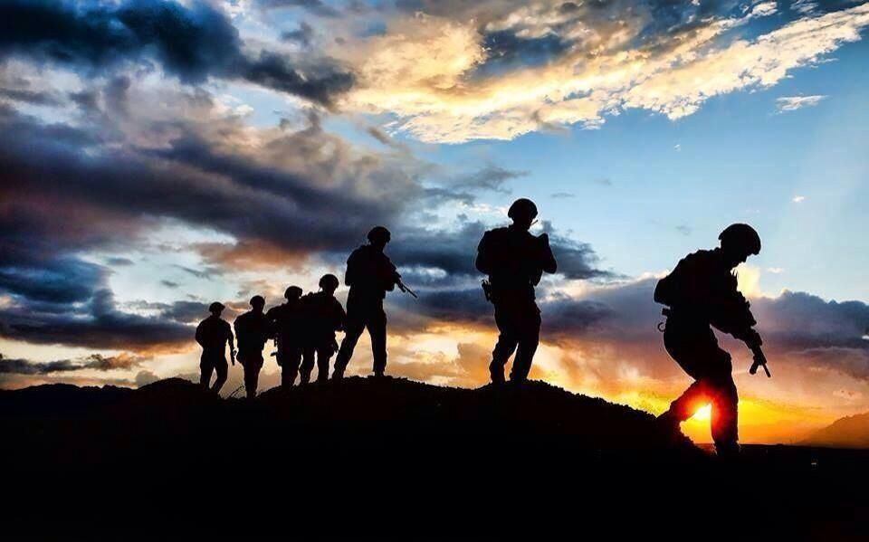 Soldier Silhouettes Photography 군대