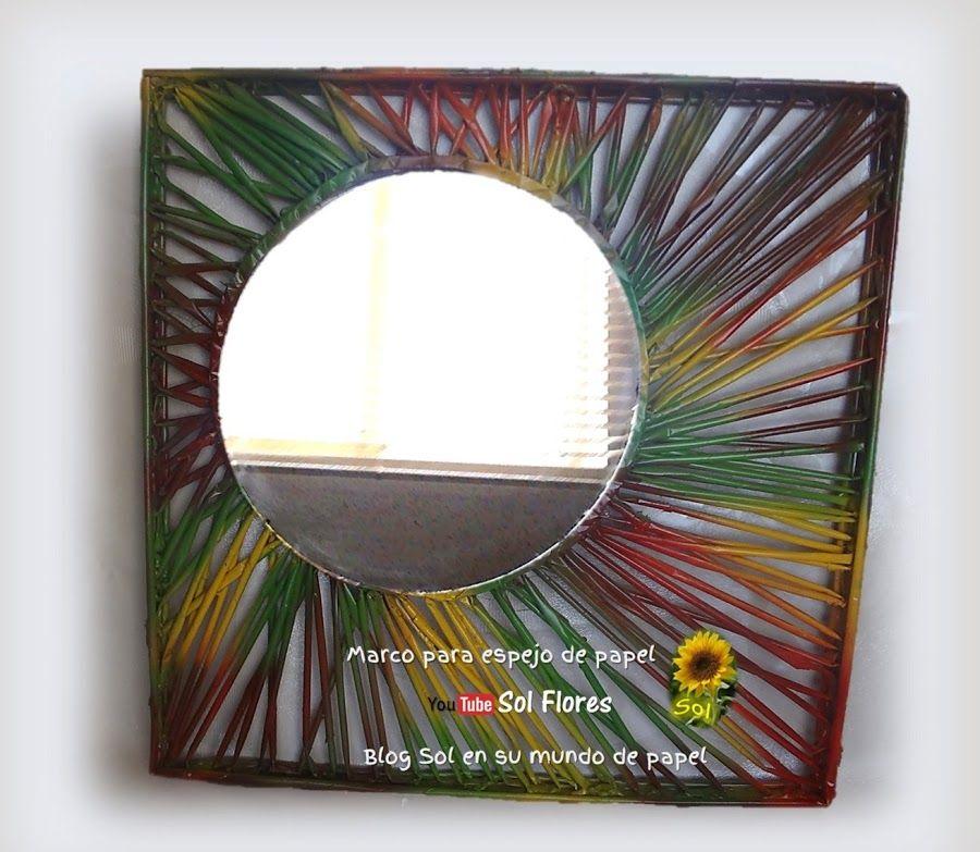 Un nuevo marco para el espejo reciclando papel periódico | Marcos ...