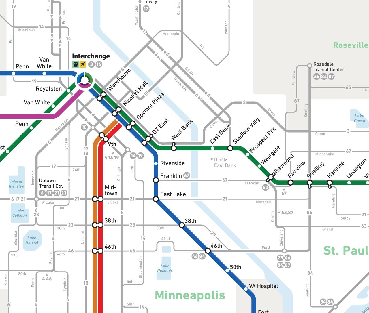 Minneapolis Light Rail Map