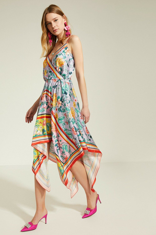 Koton Askili Zeynep Tosun For Koton Mor Midi Asimetrik Abiye Elbise Elbisebul Elbise The Dress Moda Stilleri