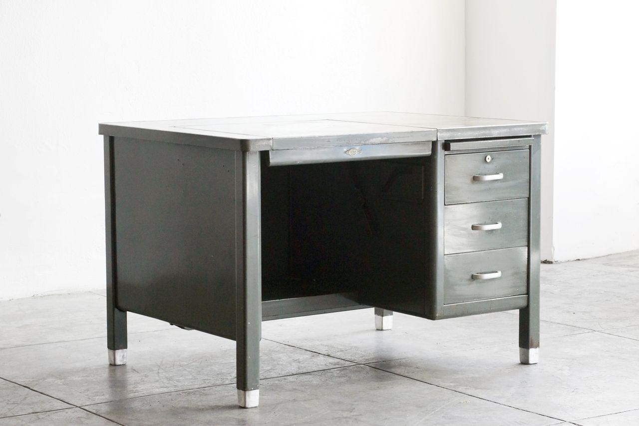 Sold 1920s Typewriter Tanker Desk By Art Metal Tanker Desk Vintage Industrial Desk Desk