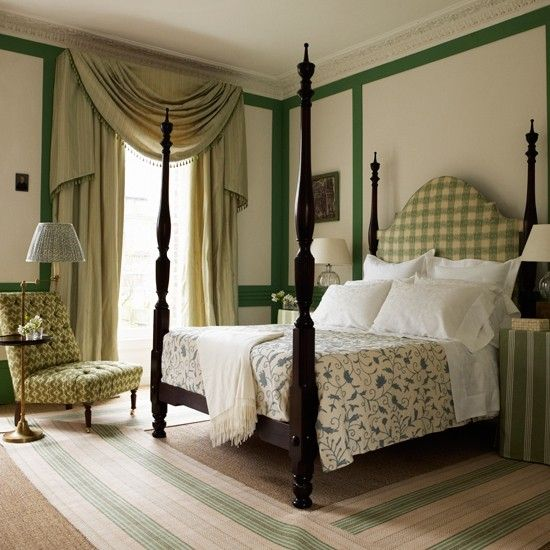 Sophisticated colonial bedroom A mixture of textures and