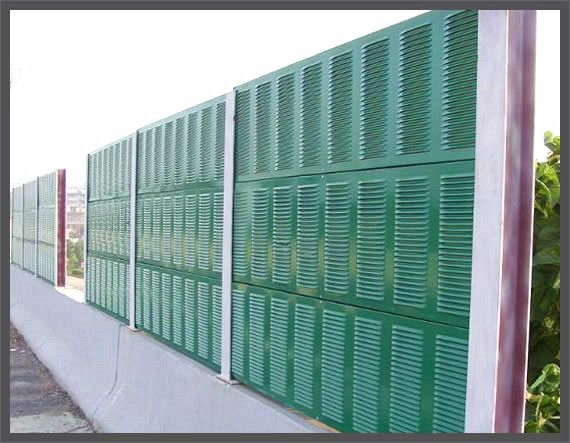 Highway Sound Metal Barrier Wall Noise Absorbing