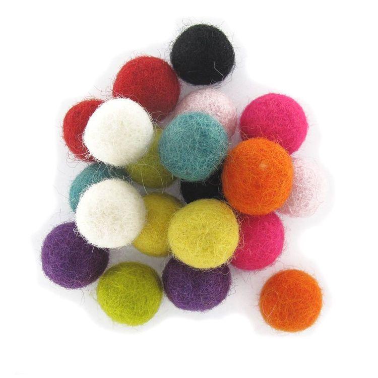 Felt Balls Nursery Craft Galrand Pom Pom 2Cm / 20Mm Christmas Decoration Treat