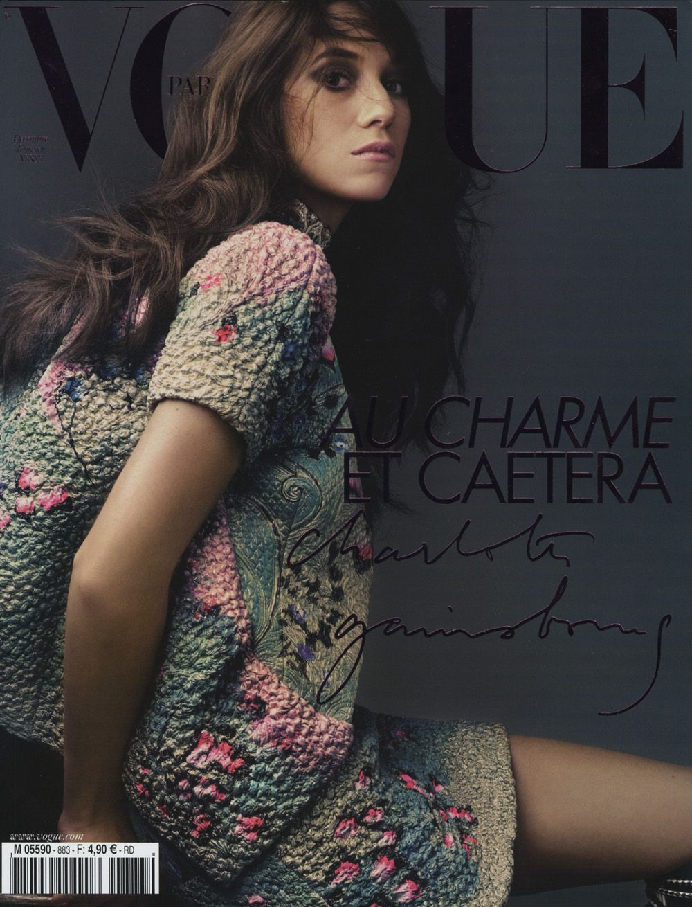 French Vogue guest editor charlotte Gainsbourg BEST ISSUE EVER, like reading her personal diary she really let the reader in to her world picture via Milly Fell Into The Wardrobe: Plus ça change, plus c'est la même chose