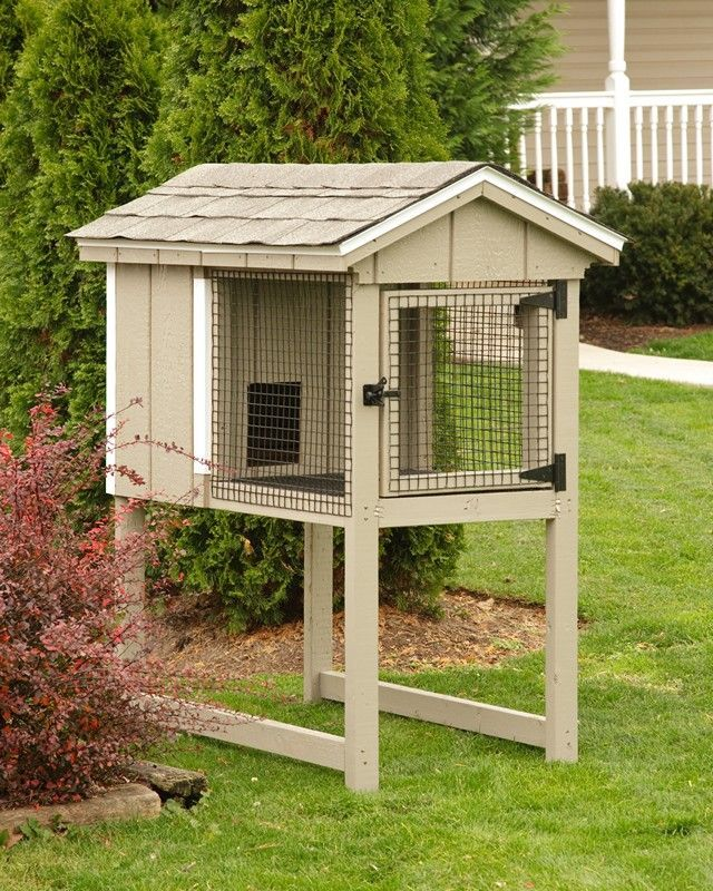 Chicken coops amish rabbit hutch ideas rabbit hutches for Homemade bunny houses