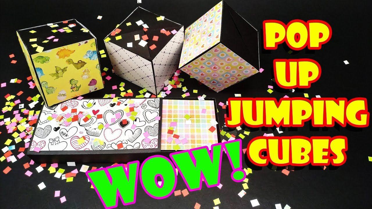 EASY DIY: JUMPING CUBes / Pop up Cubes Card - Yakomoga easy DIY