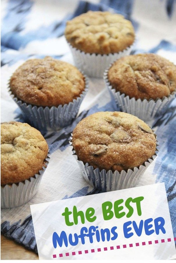 Seriously the BEST MUFFINS EVER! cinnamon sugar chocolate chip banana nut muffins recipe