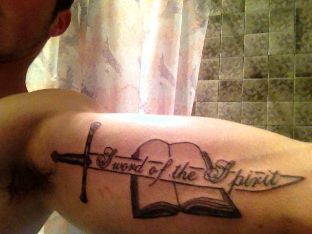 sword of the spirit tattoo tattoo ideas pinterest