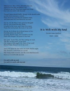 One of my favorite hymns :) The story behind the words is so beautiful!